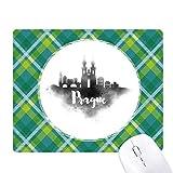 Praga - Alfombrilla para ratón (diseño de rayas, color verde