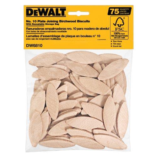 DEWALT DW6810 No 10 Size Joining Biscuits 75 Pieces
