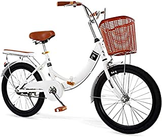 Brushes Bicicleta Plegable de 22 Pulgadas Masculino Y Femenino Adulto Princesa Escuela Primaria Señora Super Light Pedal d...