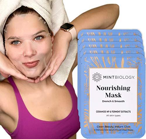 Korean Face Mask   PORELESS Rapid Results Korean Skin Care Formula   Natural Advanced Penetration TENCEL Sheet Mask   Nourish, Hydrate & Support ANY Skin Type   Cruelty Free Face Mask Kit