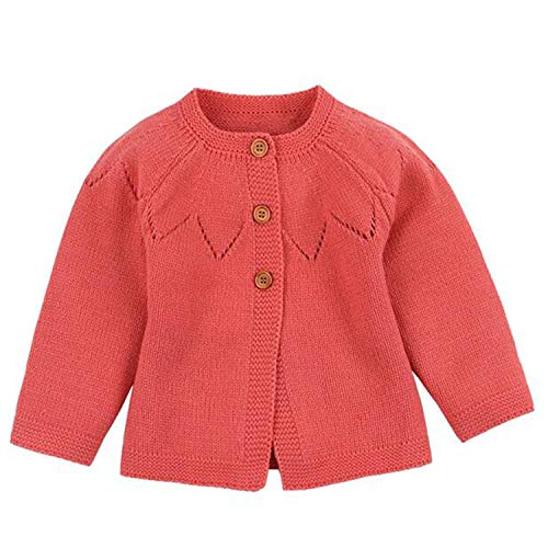 Spring Baby Girl Sweater Cardigans Autumn Newborn Knitted Jackets Toddler Infant Knitwear Coats Orange 82W440 12M