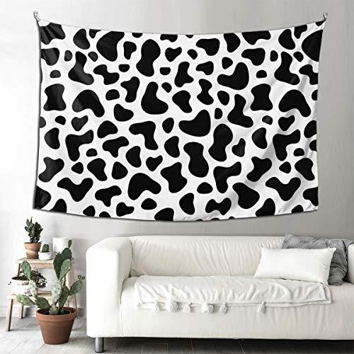 Tapiz decorativo con estampado de vaca para dormitorio, sala de estar, decoración del hogar, tapiz decorativo para colgar en la pared con 90 x 150 cm