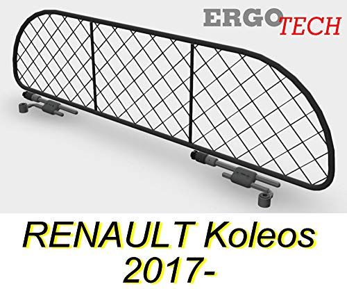 ERGOTECH Trennnetz Hundegitter Trenngitter RENAULT Koleos RDA65-M, für Hunde und Gepäck.