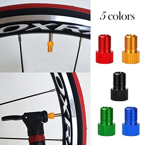 WINOMO Fahrrad Ventil Adapter 10 Stücke Aluminium PRESTA SCHRADER Konverter Auto Fahrrad Schlauchpumpe Kompressor Werkzeuge - 4
