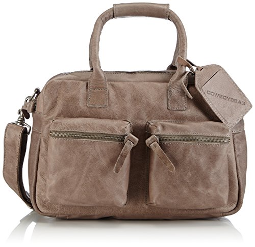 Cowboysbag Unisex-Erwachsene The Bag Small Henkeltaschen, Grau (Elephant Grey 135), 38x23x14 cm