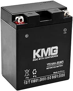 KMG Kawasaki 300 KVF300-B Prairie 300 4x4 1999-2002 YTX14AH-BS Sealed Maintenace Free Battery High Performance 12V SMF Replacement Maintenance Free Powersport Motorcycle ATV Scooter Snowmobile KMG