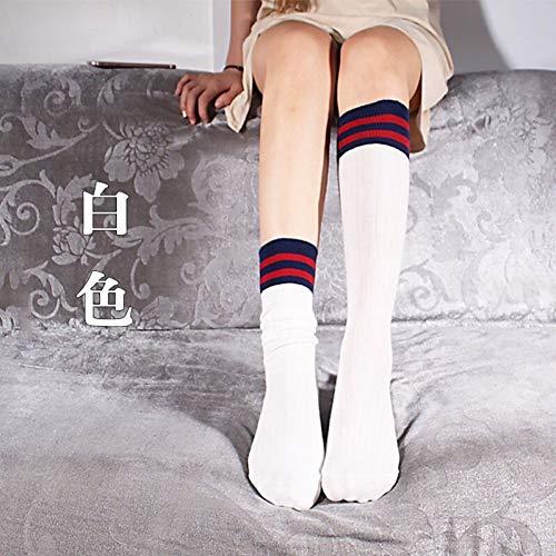 DKNBI Harajuku Warme Kniestrümpfe Baumwollstretch Socken College Style Damen Stripes Oberschenkel können lang oder kurz Sein Fashion Wild
