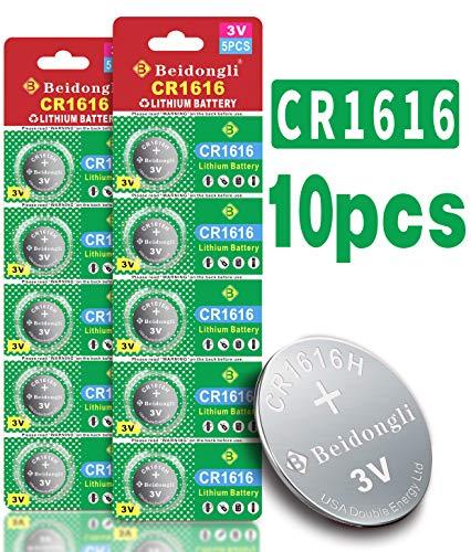 Beidongli CR1616 - Pilas de litio de alta capacidad (3 V, 10 unidades)