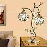 Lámpara de escritorio de Glyyr Lámpara Lámpara de escritorio LED de diseño europeo y de moda, con lampana de diseño de bola de cristal para dormitorio, sala de estar, decoración