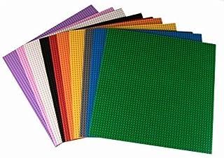 "Strictly Briks Classic Baseplates (10 Colors) Building Bricks (Piece), Multicolor, 15.75"" x 15.75"""