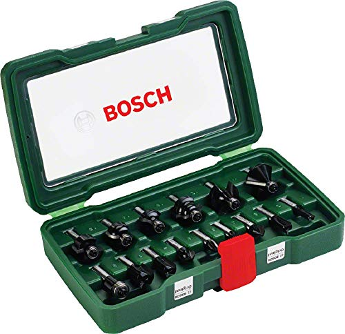 Bosch 2607019469 Coffret de 15 fraises au carbure Queue Ø 8 mm