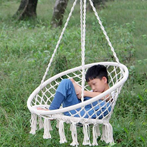 DAUERHAFT Silla Colgante Silla Colgante de macramé Segura, para Adultos y niños