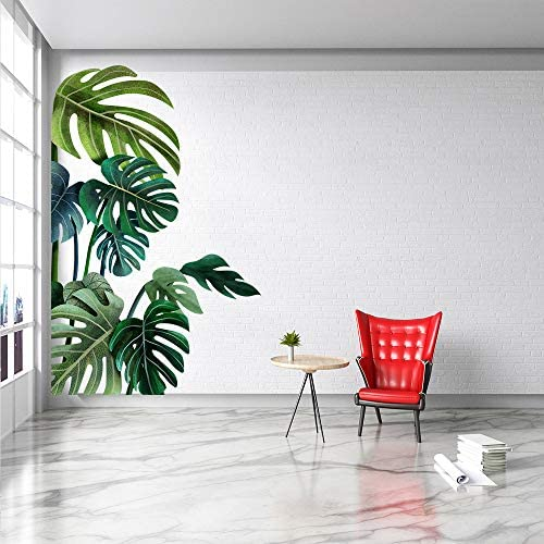 Big Leaf Green Plant Wall Decal Wall Green Big Leaf Sticker Peel and Stick Removable Green Leaf product image
