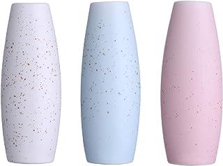 Decorative Ceramic Flower Vase for Flowers, Set of 3 Small Decorative Flower Vase for Decor, Special Design Modern Floral ...