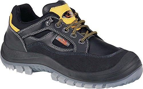 Sicherheitsschuhe m.Überkappe, Vollrindleder, schw, Schuhgröße : 48, Farbe : schwarz