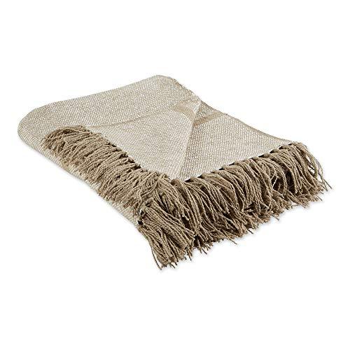 """DII Stone Stripe Homespun Woven Throw, 50x60"""" with 2.5"""" fringe,,5746"""