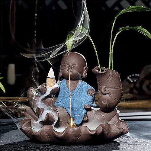 Räucherstäbchen Kreative Kreative Kultur Kleine Räucherstäbchenhalterung Rauch Wasserfall Rücklauf Räucherbrenner Verwenden Sie Heimbüro, blau Xping (Color : Blue)
