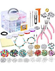 Coxeer Jewelry Making Kit Creative DIY Beading Kit Earring Making Kit with Jewelry Tool