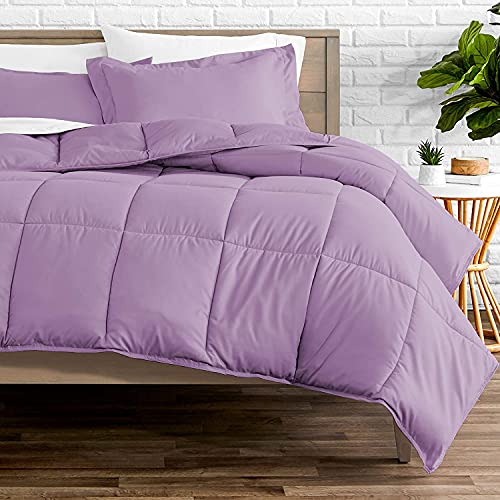 Pride Beddings Goose Down Comforter Twin,Beautiful Duvet Insert,600 TC- 100% Egyptian Cotton Fabric,300 GSM Fill Power All Season Twin Comforter(68''x90'' inches) - Lavender