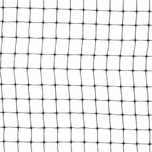 Vogelschutznetz Teichnetz Katzennetz Kunststoffnetz 2 x 50m (12 x 14mm) schwarz