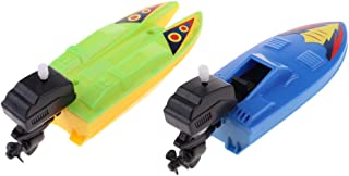 LuDa A Pair of Bathtub Fun Boats Toys Wind Up Water Boat Toy Kids Gift