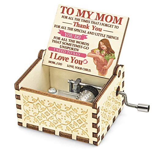 Mr.Winder Mom Music Box Gift from Daughter Son, Hand Crank Musical...