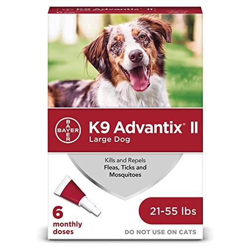 K9 Advantix II Flea and Tick Prevention for Large Dogs 6-Pack, 21-55 Pounds