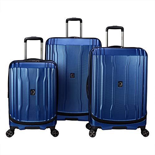 DELSEY Paris Cruise Lite Hardside 2.0 Expandable Luggage, Spinner Wheels, Blue, 3-Piece Set (21/25/29)