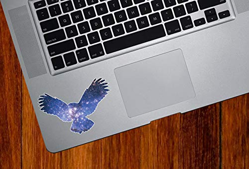 TP, Cosmic Owl Flying, Galaxy Guide, Vinyl Decal for Trackpad, Tablet, Laptop, Indoor Use, (3'w x 2'h)