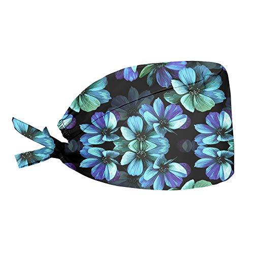 Aoopistc Hawaiian Hibiscus Flower Print Hat for Women Working Cap Breathable Lightweight