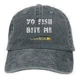 Dyfcnaiehrgrf Bite Me - Gorra de béisbol ajustable para pesca