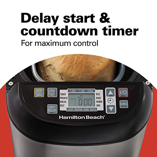 Hamilton-Beach 29885C Bread Maker, Small, Brushed Stainless Steel