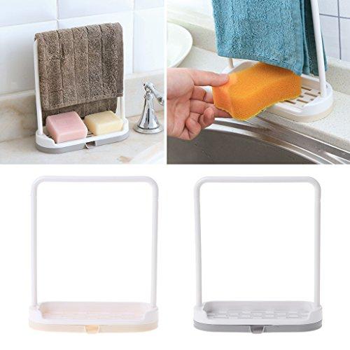 qiman toalla trapo suspendida esponja escurridor jabonera cocina escritorio organizador gris