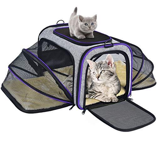 OMORC Transportin Gato Perro, Bolsa de Transporte Transpirable para Mascotas, Estructura Sólida Fácil de Almacenamiento y Espaciosa