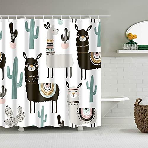AFDSJJDK Vorhang Blickdicht Neue Cartoon-Maus-Muster wasserdicht 3D-Duschvorhang niedliche Tiere Duschvorhang mit Haken für Badezimmerdekoration Geschenke