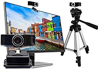 WXFXBKJ HD Webcam Computer Desktop All-in-one Machine, Home Notebook with Microphone External USB Video Conference Webcam,...