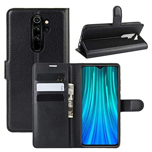 Capa Capinha Carteira 360 Para Xiaomi Redmi Note 8 Pro Tela De 6.53Polegadas Case Couro Flip Wallet - Danet (Preto)