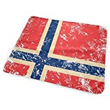 Cambiador de pañales, diseño de bandera de Noruega, impermeable, portátil, grande, cambiador de colchón para niños y niñas recién nacidos (25,5 x 31,5 cm)