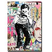 写真を撮るStreet Art Canvas Paint Pop Graffiti Art Canvasプリント壁の写真クッキー壁の装飾のための壁の写真 (Color : Since197, Size (Inch) : 50x70cm no frame)