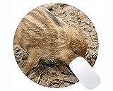 Schwein-runde Mausunterlage Nettes Tier, launchy runde Mausunterlage Matte