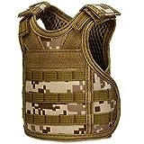 CyberDyer Beer Vests Beverage Cooler Tactical Mini Molle Adjustable Beverage Holder for 12oz or 16oz Cans or Bottles (Desert Camouflage)