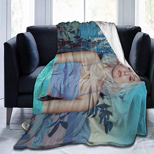 YeeATZ Zara-Larsson - Manta de forro polar ultrasuave, ligera, acogedora, de franela, para niños y adultos