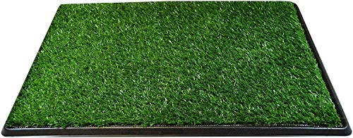 Downtown Pet Supply Dog Pee Potty Pad, Bathroom Tinkle Artificial Grass Turf, Portable Potty Trainer (16 x 20 Inch - 3 Layers)