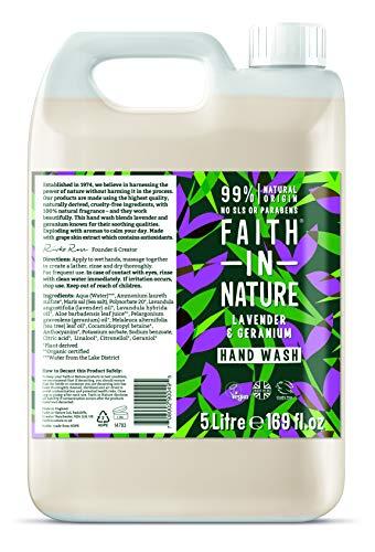 Faith in Nature, Lavender & Geranium Hand BULK, 5l