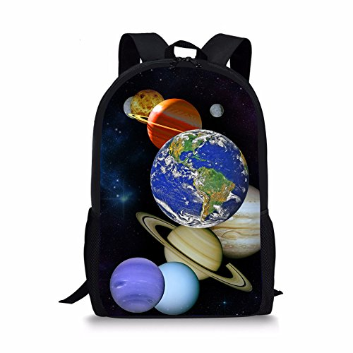 Showudesigns Galaxy Space Backpack Girls Book Bag Boys Children Kids Polyester Schoolbag Preppy Star Planet Bag Pack Back to School