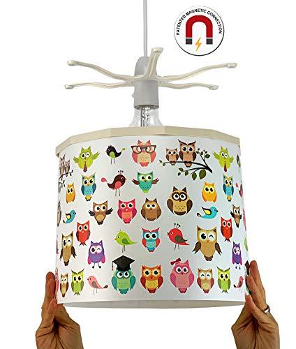 Ereki hanglampenkap, ABS, hitte- en vlambestendig, wit, roze, paars, geel, groen blauw