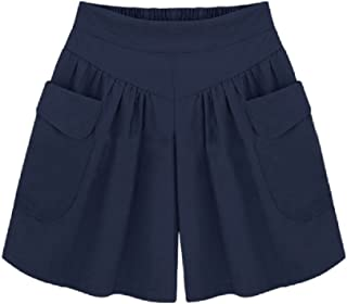 【ACE FACTORY】レディース キュロットスカート ショートパンツ ワイドレッグ ハイウエスト 大きいサイズ エコバック付き