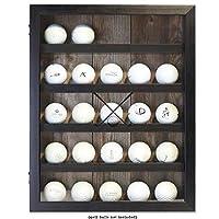 Lawrence Frames 531011 11x14 ゴルフディスプレイケース ロゴボール25個を収納 シャドウボックスフレーム ブラック