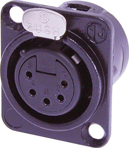 Neutrik NC5FD-L-B-1 5 pole female receptacle solder cups black metal
