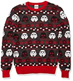 Star Wars Men's Ugly Christmas Sweater, Grey, Large